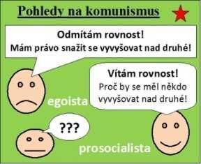Egoista: »Odmítám rovnost!« Prosocialista: »Vítám rovnost!«