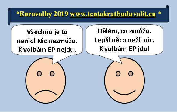 Smajlíci o Eurovolbách 2019: Skeptický nemá zájem jít a optimistický půjde k volbám.