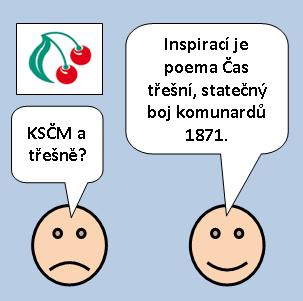 """Smajlíci a KSČM: """"Inspirací je poema Čas třešní, statečný boj komunardů 1871.""""«"""