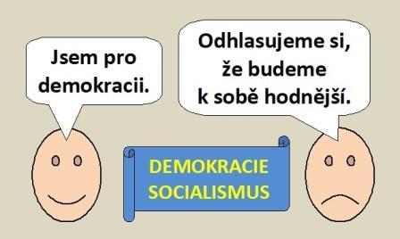 """Smajlíci o demokracii a socialismu: """"Jsem pro demokracii."""" """"Odhlasujeme si, že budeme k sobě hodnější."""""""